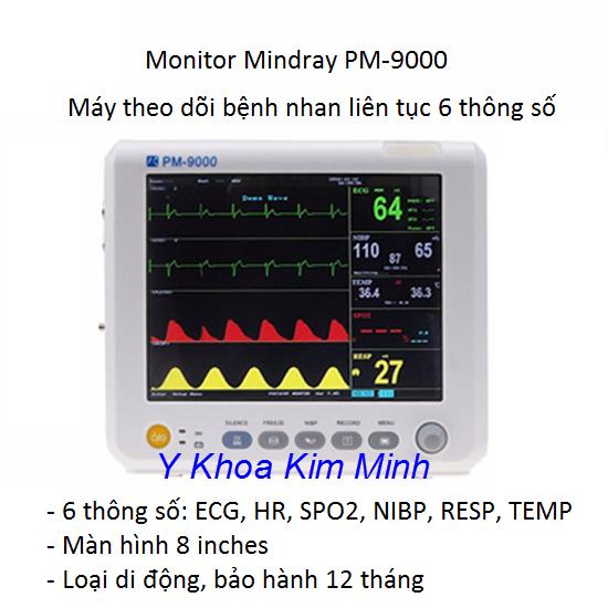 Monitor PM-9000 theo dõi bệnh nhân 6 thông số