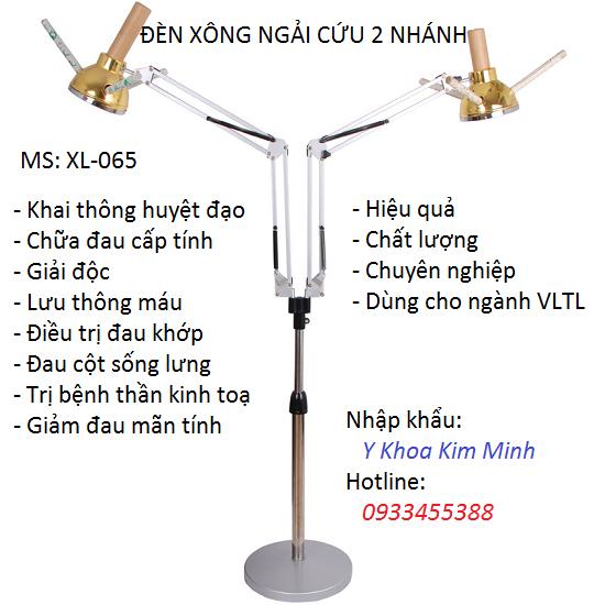 Đèn xông ngải cứu 2 nhánh XL-065
