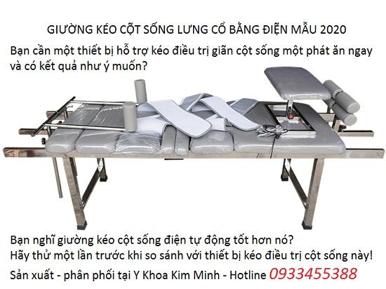 Giường điện kéo giãn điều trị thoát vị đĩa đệm lưng cổ 2020