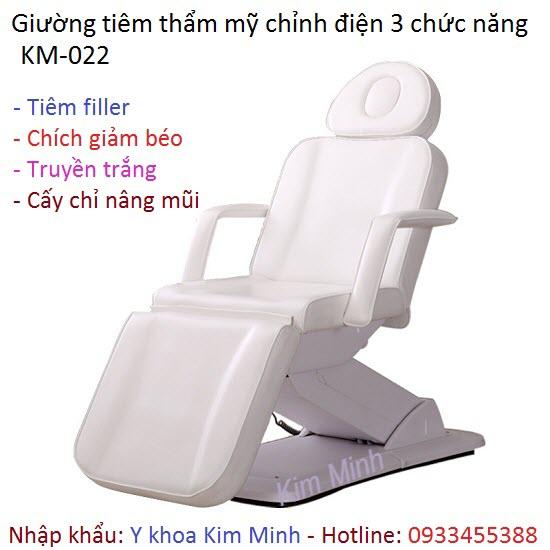 Giường tiêm thẩm mỹ chỉnh điện KM-022