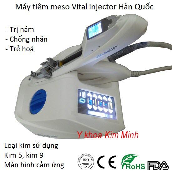 Máy tiêm dưỡng chất Hàn Quốc Vital Injector kim 5,9