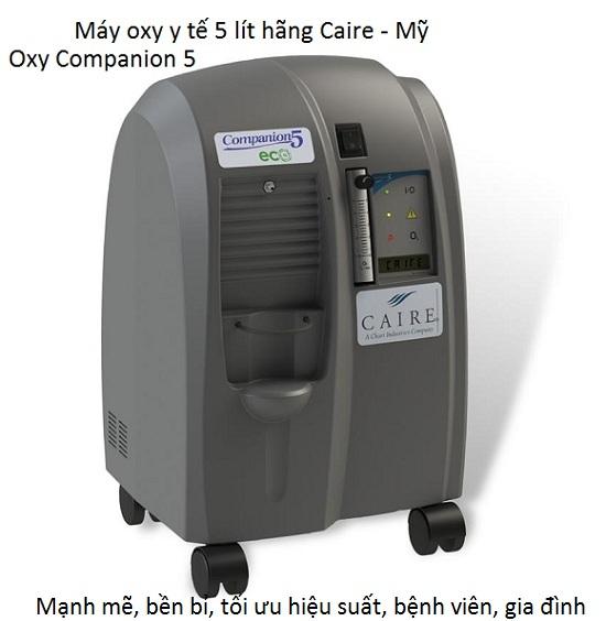 Máy oxy y tế 5 lít hãng Caire Mỹ