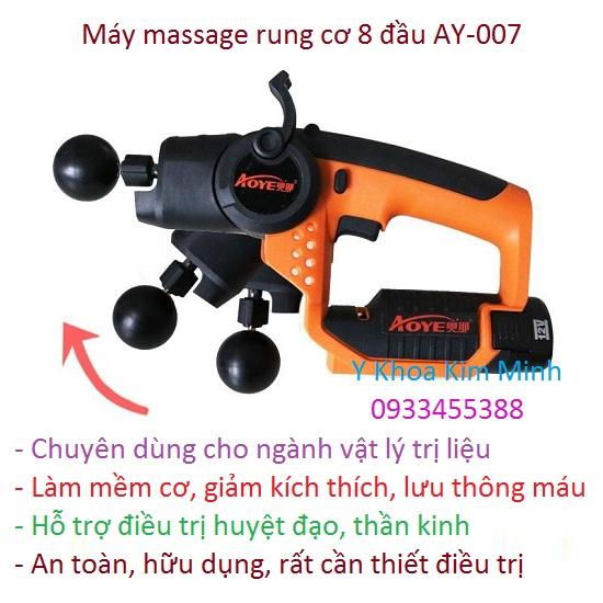 Máy massage rung cơ giảm đau 8 đầu AY-007