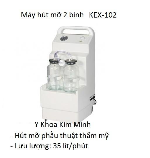 Máy hút mỡ 2 bình 35 lít KEX-102