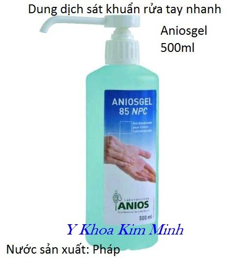 Dung dịch sát khuẩn tay nhanh Aniosgel 500ml