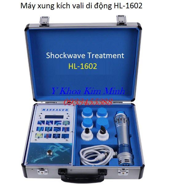 Máy xung kích trị liệu vali mini HL-1602