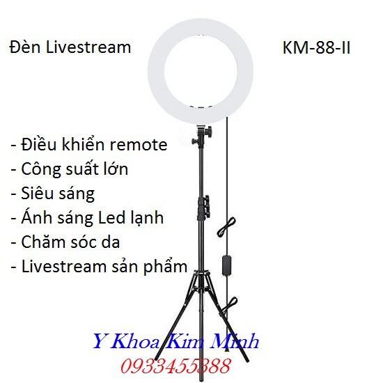 Đèn Livestream ánh sáng Led lạnh KM-88-II