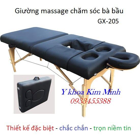 Giường massage vali chăm sóc bà bầu GX-205
