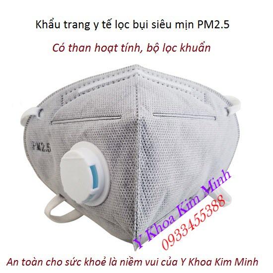 Khẩu trang y tế lọc bụi siêu mịn PM2.5