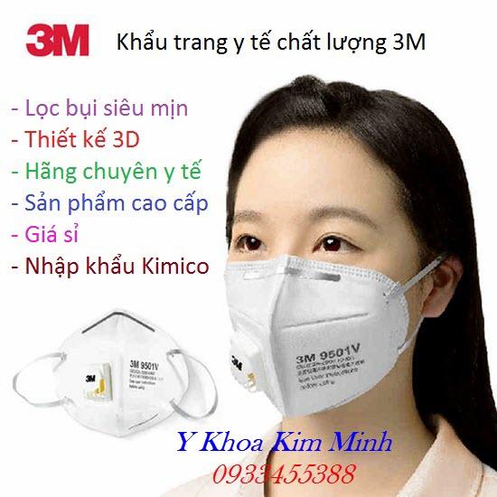 Khẩu trang y tế 3M có lõi lọc PM2.5 giá sỉ