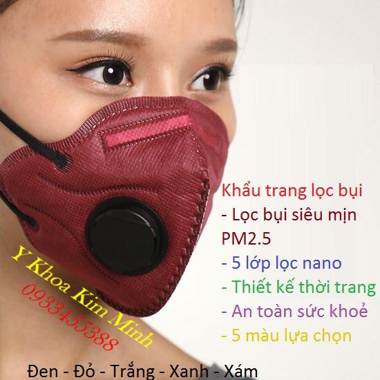 Khẩu trang y tế 5 lớp lọc bụi siêu mịn PM2.5