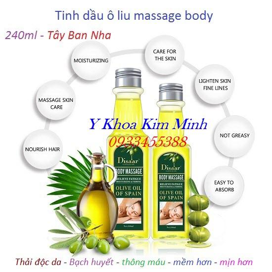 Tinh dầu ô liu massage body 240ml Tây Ban Nha