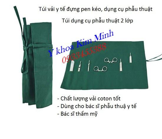 Túi vải đựng dụng cụ phẫu thuật của bác sĩ
