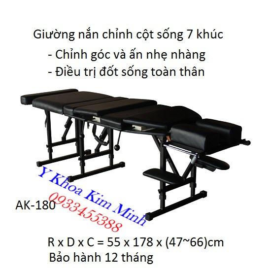 Giường nắn cột sống 7 khúc AK-180 Chiropractic Crack