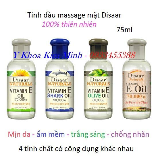 Tinh dầu masasge mặt vitamin E trắng sáng mịn da 75ml
