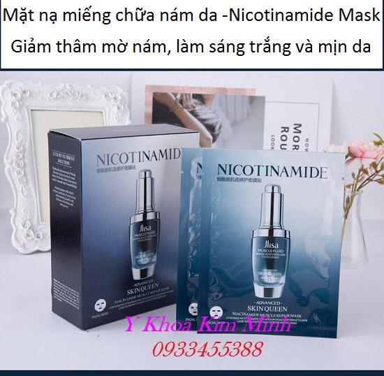 Mặt nạ trị thâm nám Nicotinamide, dưỡng trắng mịn da