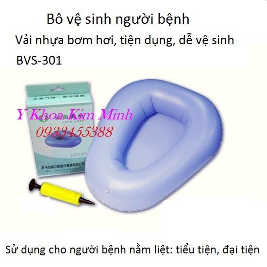 Bô vệ sinh người bệnh vải nhựa bơm hơi BVS-301