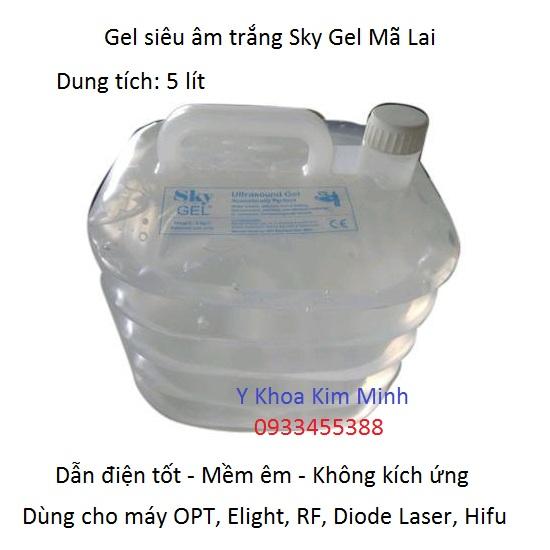 Gel siêu âm trắng Mã Lai 5 lít