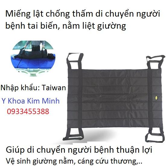 Miếng lật chống thấm di chuyển người bệnh nằm liệt giường