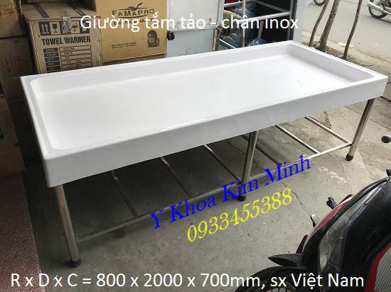 Giường tắm tảo 800 x 2000 x 700mm