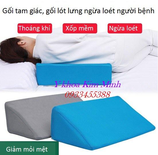 Gối lót lưng nghiêng ngăn tạo vết loét người bệnh