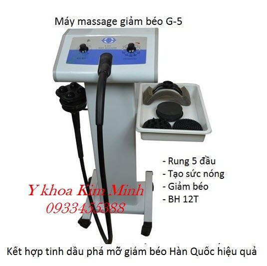 Máy massage rung giảm béo 5 đầu G-5