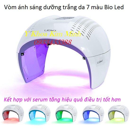 Vòm ánh sáng sinh học 7 màu Bio Led Dome màu trắng