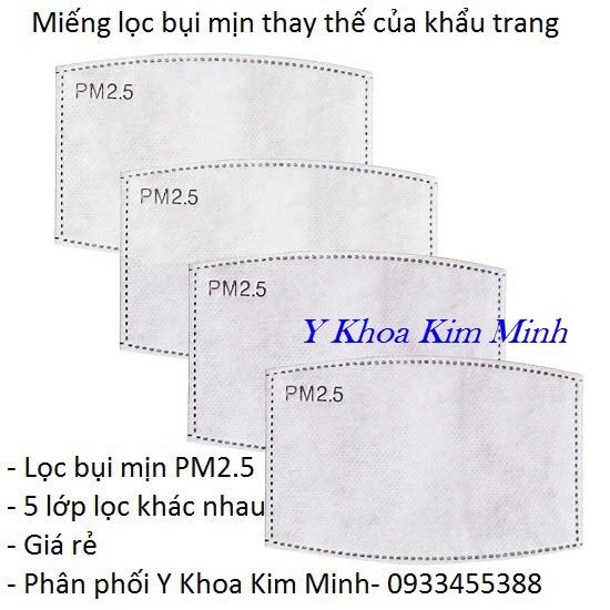 Miếng lọc bụi mịn thay thế trong khẩu trang y tế PM2.5