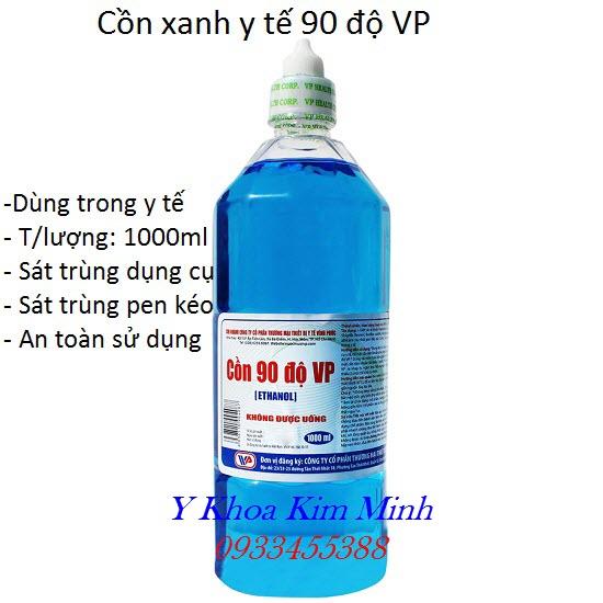 Cồn xanh y tế 90 độ sát trùng dụng cụ 1000ml