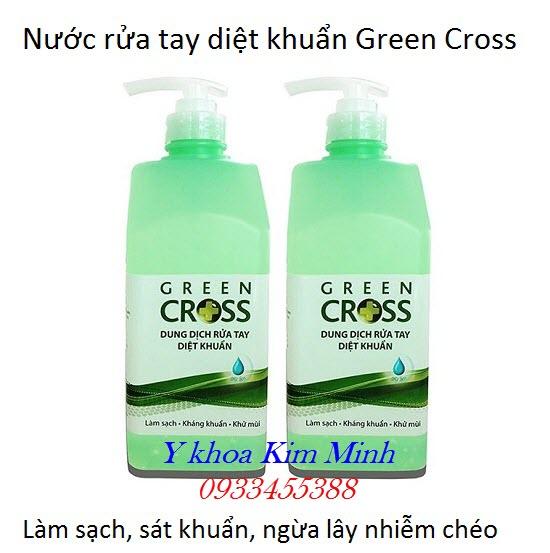 Nước rửa tay khô Green Cross chai 500ml