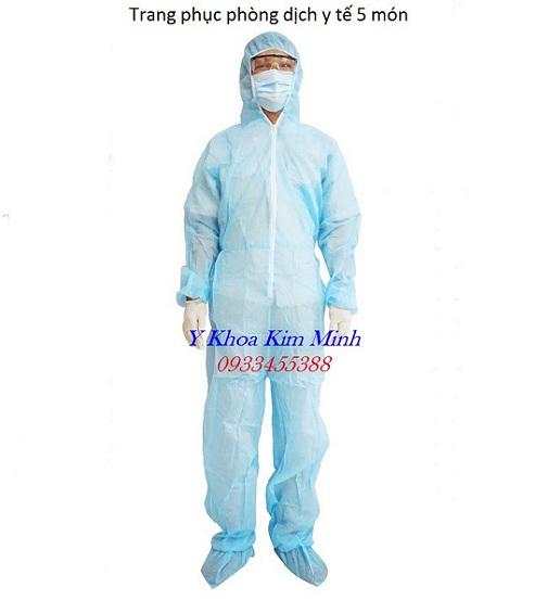 Trang phục phòng dịch y tế 5 món