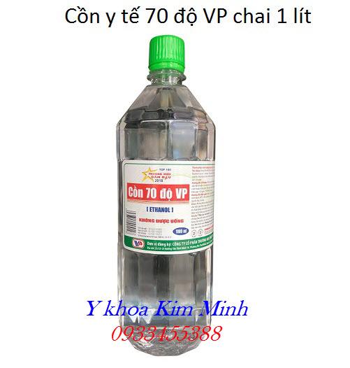 Cồn y tế đóng chai 1 lít 70 độ VP