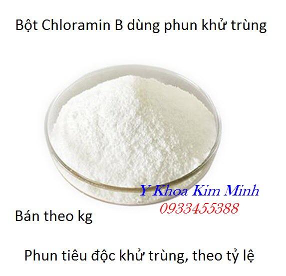 Bột Chloramin B dùng phun khử trùng y tế
