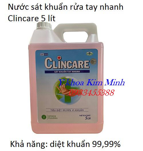Nước rửa tay sát khuẩn Clincare 5 lít