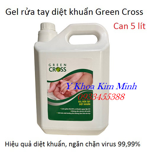 Gel rửa tay diệt khuẩn Green Cross 5 lit