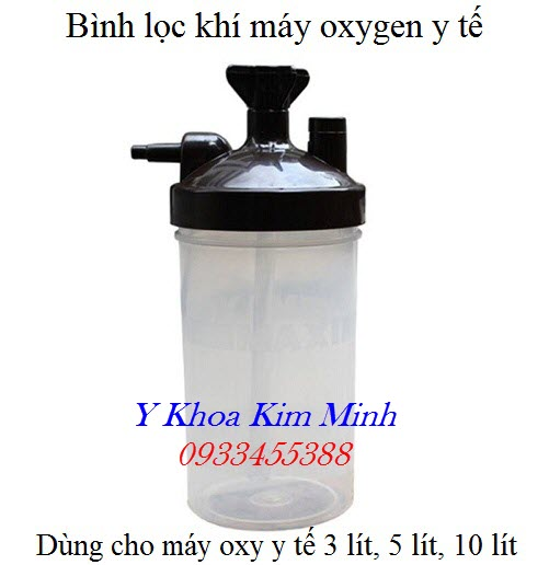 Bình lọc khí máy oxy y tế 3 lít, 5 lít, 10 lít