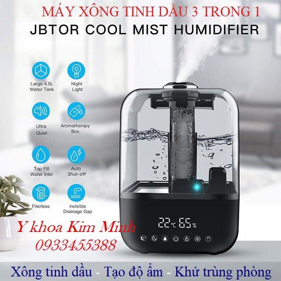 Máy xông tinh dầu tạo độ ẩm phòng 3 trong 1 JBT