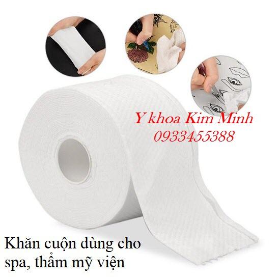 Khăn cuộn lau mặt dùng cho spa thẩm mỹ viện