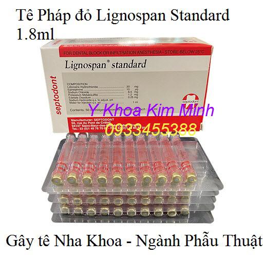 Tê Pháp đỏ Lignospan Standard 1.8ml