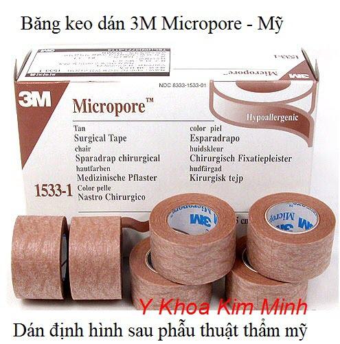 Băng keo dán định hình sau phẫu thuật 3M Micropore
