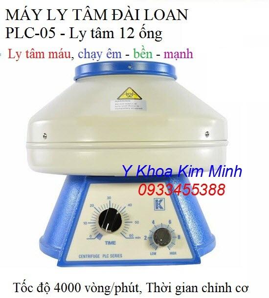 Máy ly tâm Đài Loan PLC-05 12 ống 4000 vòng/phút