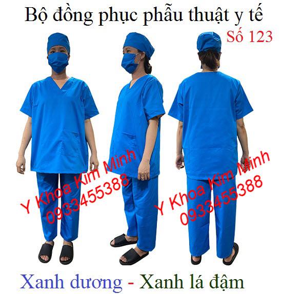 Bộ đồng phục phẫu thuật y tế số 123