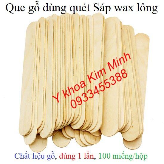 Que gỗ dùng quét sáp wax lông 100 que/hộp