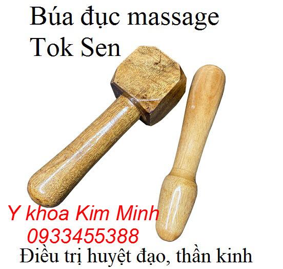 Búa đục bằng gỗ massage gõ huyệt đạo Tok Sen