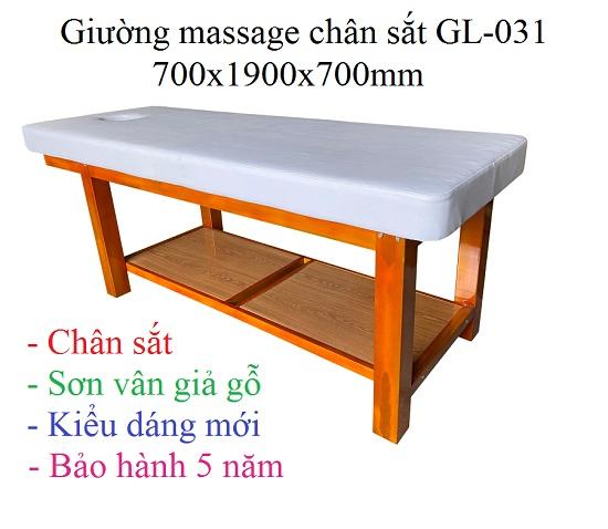 Giường masasge thẩm mỹ chân sắt GL-031
