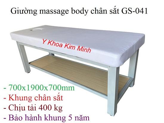 Giường masasge body chân sắt GS-041