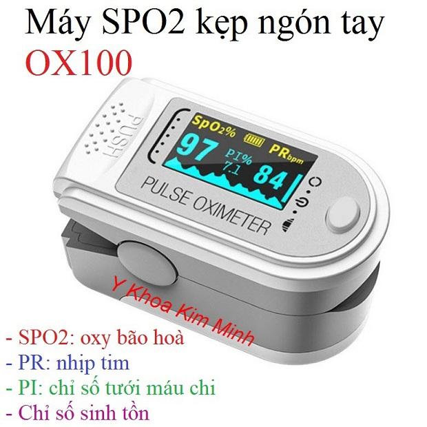 Máy SPO2 kẹp ngón tay OX100