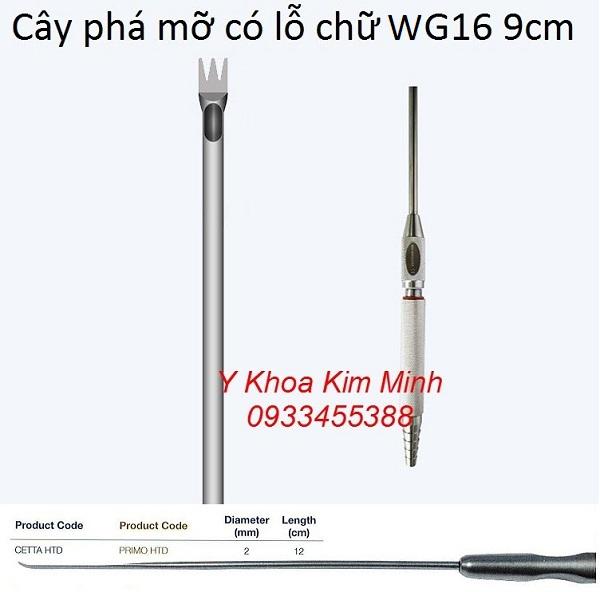 Cây phá mỡ giảm béo có lỗ hút chữ W G16 9cm