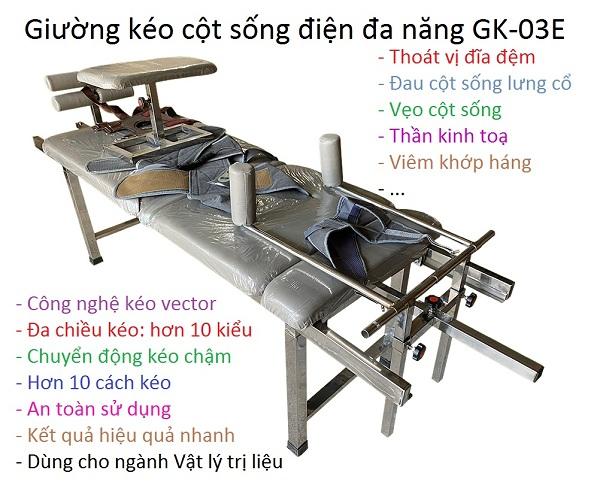 Giường kéo cột sống điện GK-03E
