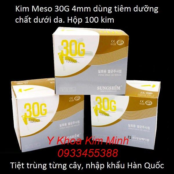 Kim meso 30G 4mm tiêm mỹ phẩm dưới da